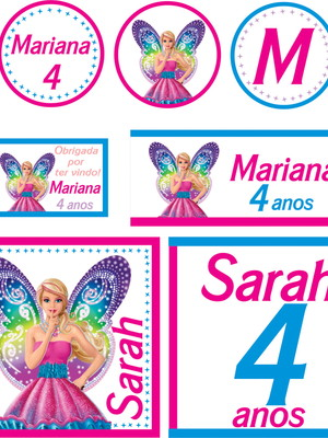 Kit Festa Barbie Borboleta