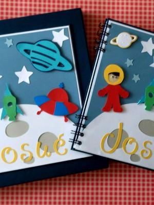 album caixa personalizado menino astronauta scrapbook