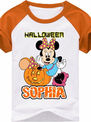 CAMISETA INFANTIL HALLOWEN MINNIE