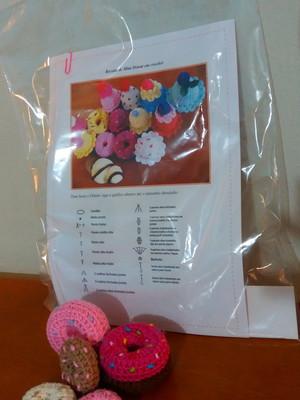 Kit para fazer Donuts em crochet