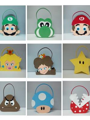 Sacolinha Surpresa Turma Mario Bros EVA