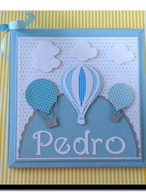 Diario Bebe lindo Balao azul personalizado menino