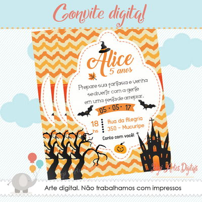 Convite digital Halloween