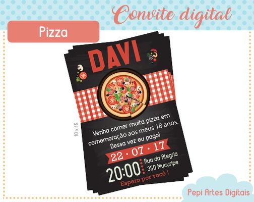 Convite digital Pizza