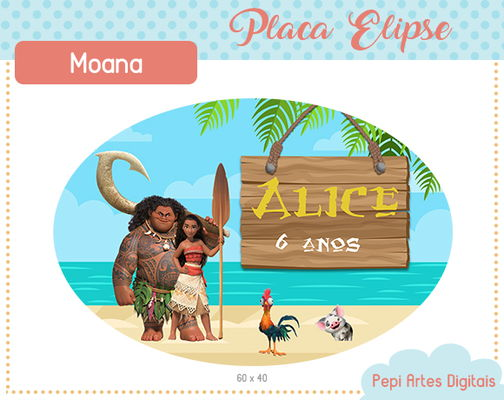Placa Elipse Moana (digital)