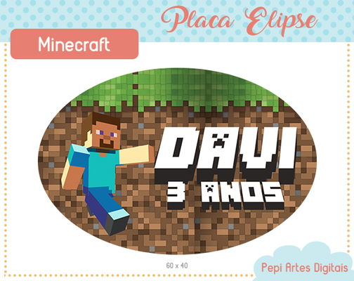 Placa Elipse Minecraft (digital)