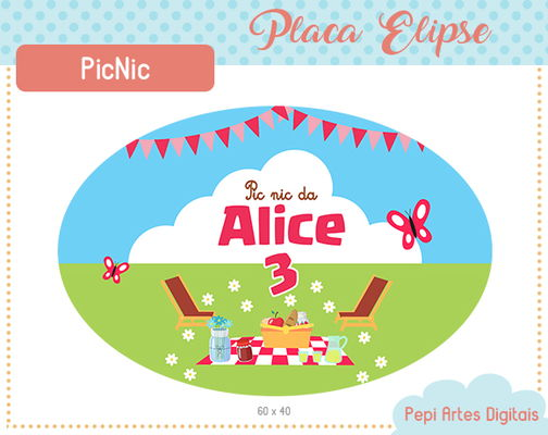 Placa Elipse Picnic (digital)