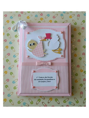 Diário da gravidez Personalizado acompanhar gestação rosa