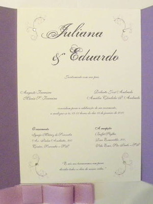 Convite de Casamento - cód A35
