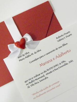 Convite de casamento - cód A17