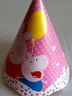 Chapeu Aniversario Peppa Pig (08 unid.)