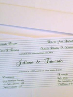 Convite de casamento - cód A21