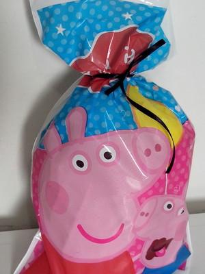 Sacola Plastica Porquinha Pepp Pig (10 unidades)