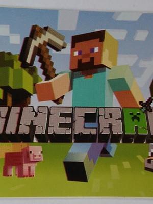 Adesivo Retangular Minecraft (08 unid.)