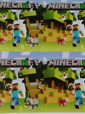 Adesivo Quadrado Minecraft 7x7cm (20 unid.)