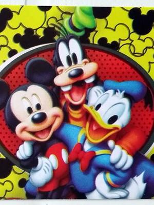 Adesivo Retangular Mickey (08 unid.)