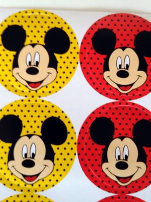 Adesivo Redondos Mickey 4CM (30 unid.)