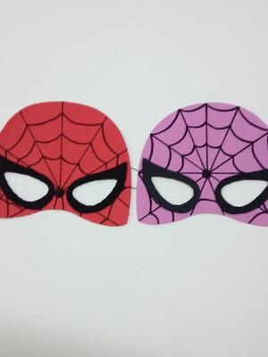 Mascara do Homem e Mulher Aranha e EVA