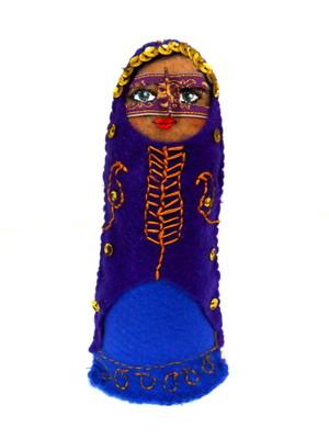 Boneca decorativa iraniana em feltro - Somayeh Bandari