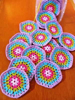 Hexágonos em Crochet