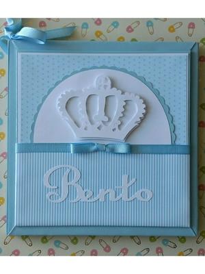 diário livro bebê personalizado para menino príncipe azul