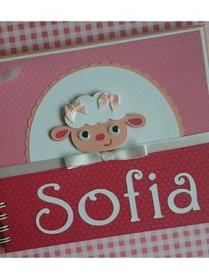 caderno personalizado bebê menina maternidade chá ovelha
