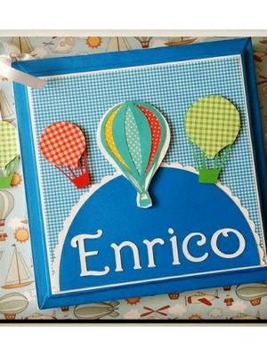 Livro do bebe menino Baloes coloridos scrapbook