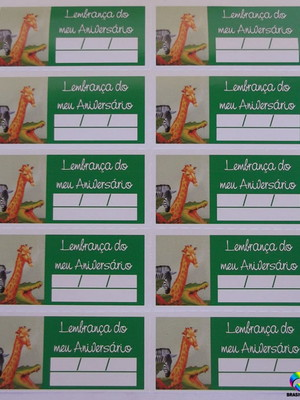 Tag Lembrancinha Floresta Safari (30 unid.)