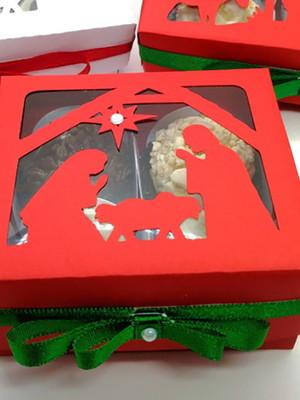 Arquivos silhouette Caixa para Doces De Natal