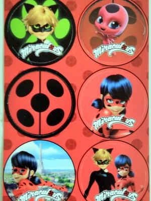 Adesivo Redondo Ladybug - 4cm (30 unid.)