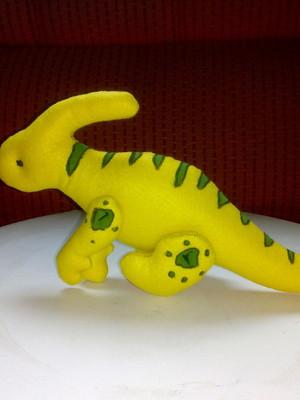 Dinossauro Parassaurolofo de Feltro