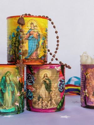 santinhos | kit com 3 latas
