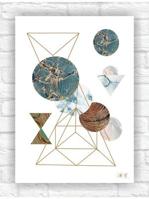 Poster Impresso Abstrato Geométrico Tamanho 21 x 30cm