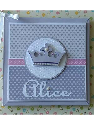 Livro Do Bebê personalizado menina princesa lavanda