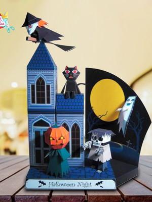 Arquivo Silhouette Castelo Halloween