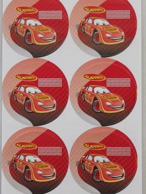 Adesivo Redondo Carros Pop - 4cm (30 unid.)