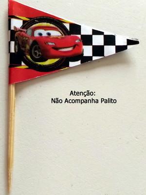 Topper Tag Bandeirinha Carros (30 unid.)