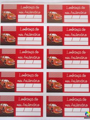 Tag Lembrancinha Carros POP (30 unid.)