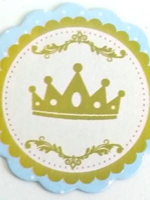 Aplique Pequeno Coroa Azul Realeza (30 unid.)