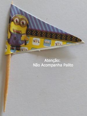 Topper Tag Bandeirinha Minions (30 unid.)