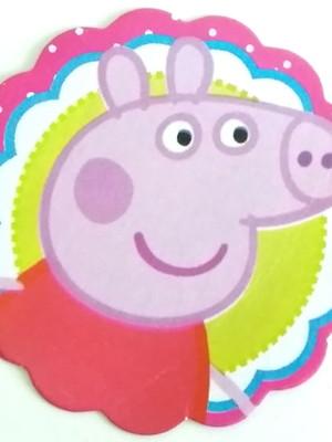 Aplique Pequeno Peppa Pig (30 unid.)