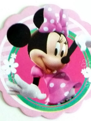 Aplique Pequeno Minnie Rosa (30 unid.)