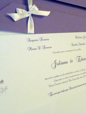 Convite de Casamento - cód A26
