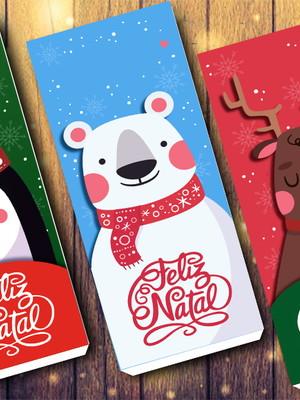 Arquivo Silhouette Caixa para barra de chocolate Natal