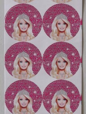 Adesivo Redondo Barbie Life - 4cm (30 unid.)
