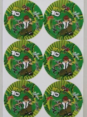 Adesivo Redondo Ben 10 e Amigos - 4cm (30 unid.)
