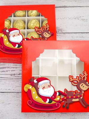 Arquivo silhouette Caixa para Doces De Natal