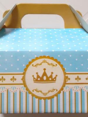 Caixa Box Pequena Coroa Azul Realeza (01 unid.)