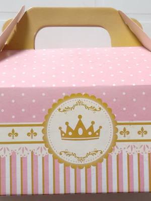 Caixa Box Pequena Coroa Rosa Realeza (01 unid.)