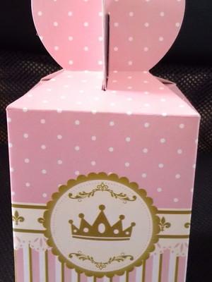 Caixa Fest Surpresa Coroa Rosa Realeza (01 unid.)